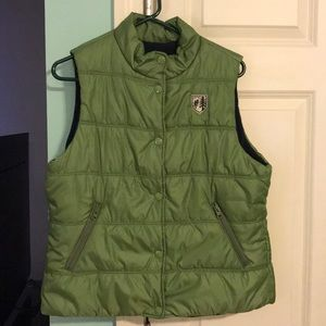 American Eagle Outfitters Green Puffer Vest